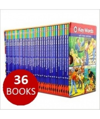 Ladybird Key Words with Peter and Jane 36 Hardback Books Complete Collection With Slipcase