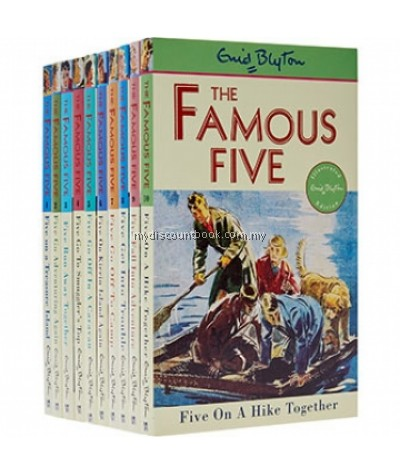 Enid Blyton Famous Five Collection Set 10 Books Collection Volume 1 to 10 Pack